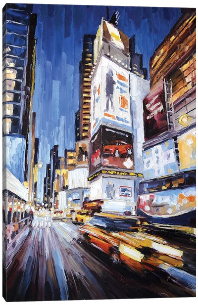 42nd West Of Broadway Canvas Art Print