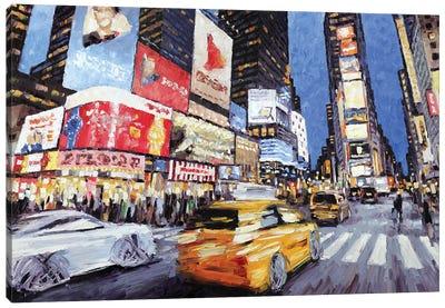 45th & Broadway Canvas Art Print