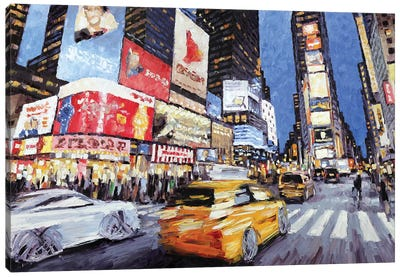 45th & Broadway Canvas Art Print