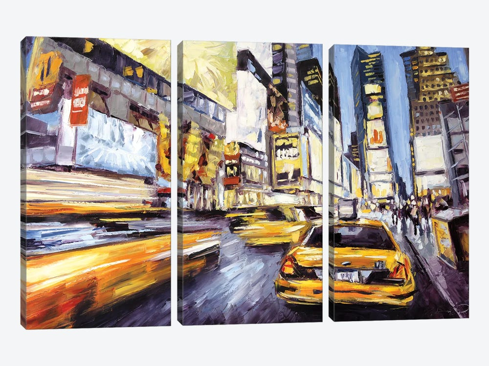 46th & 7th by Roger Disney 3-piece Canvas Art