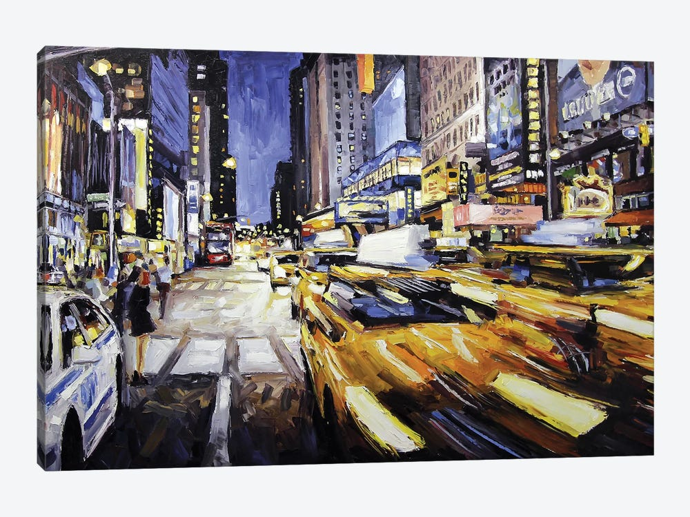 48th & 7th Avenue by Roger Disney 1-piece Canvas Print