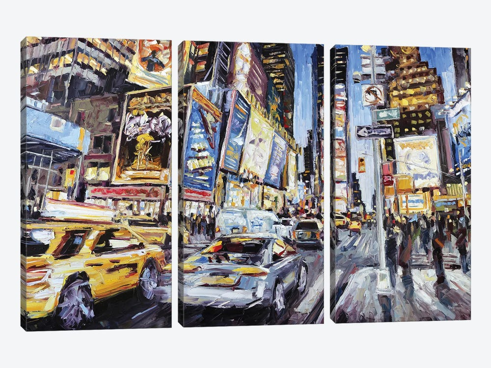 7th Ave & 46th by Roger Disney 3-piece Canvas Artwork