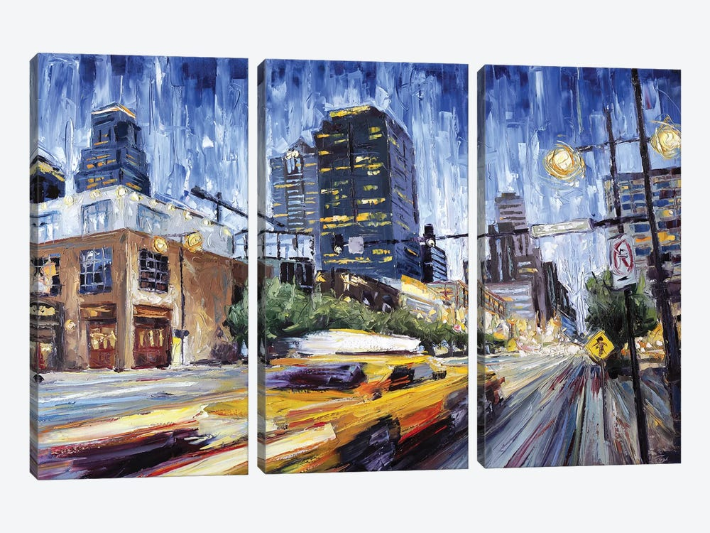 14th & Grand by Roger Disney 3-piece Canvas Art