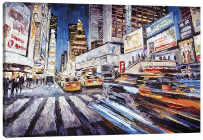 7th Ave South Of 47th Canvas Art Print