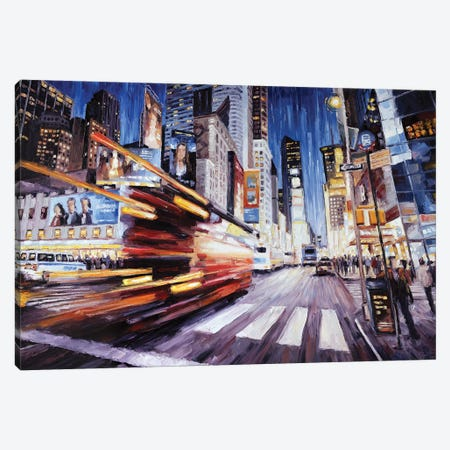7th Ave South Of 48th Canvas Print #RDI23} by Roger Disney Art Print