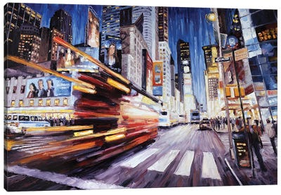 7th Ave South Of 48th Canvas Art Print