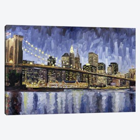Brooklyn Bridge Canvas Print #RDI29} by Roger Disney Art Print