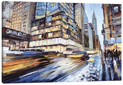 42nd & 5th Canvas Art Print