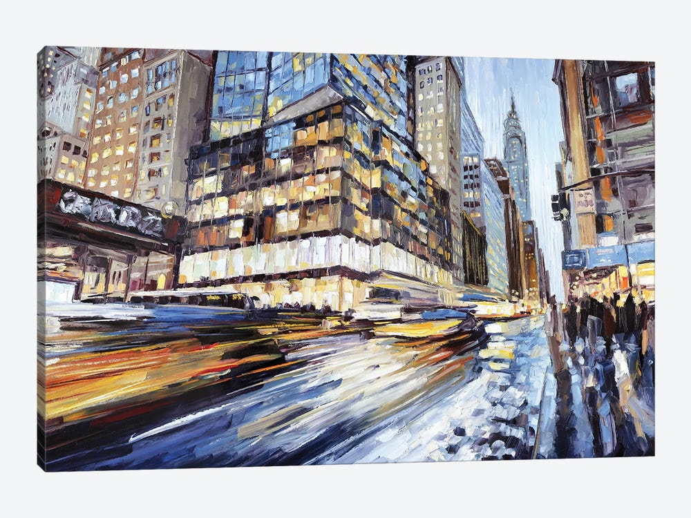 42nd & 5th by Roger Disney 1-piece Canvas Art Print