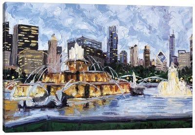 Buckingham Fountain Canvas Art Print