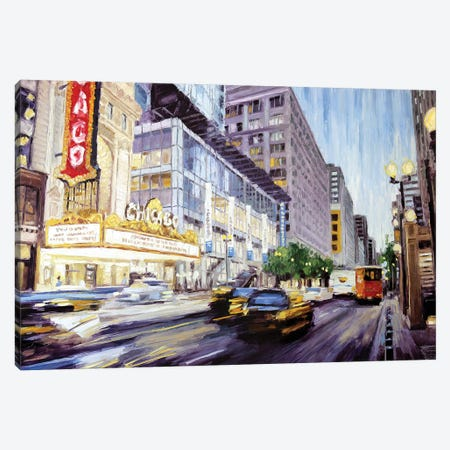 Chicago Theatre II Canvas Print #RDI35} by Roger Disney Canvas Art Print