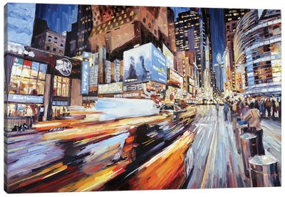 East Of 42nd And 8th Canvas Art Print