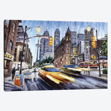 Front St At Church Canvas Print #RDI38} by Roger Disney Canvas Artwork