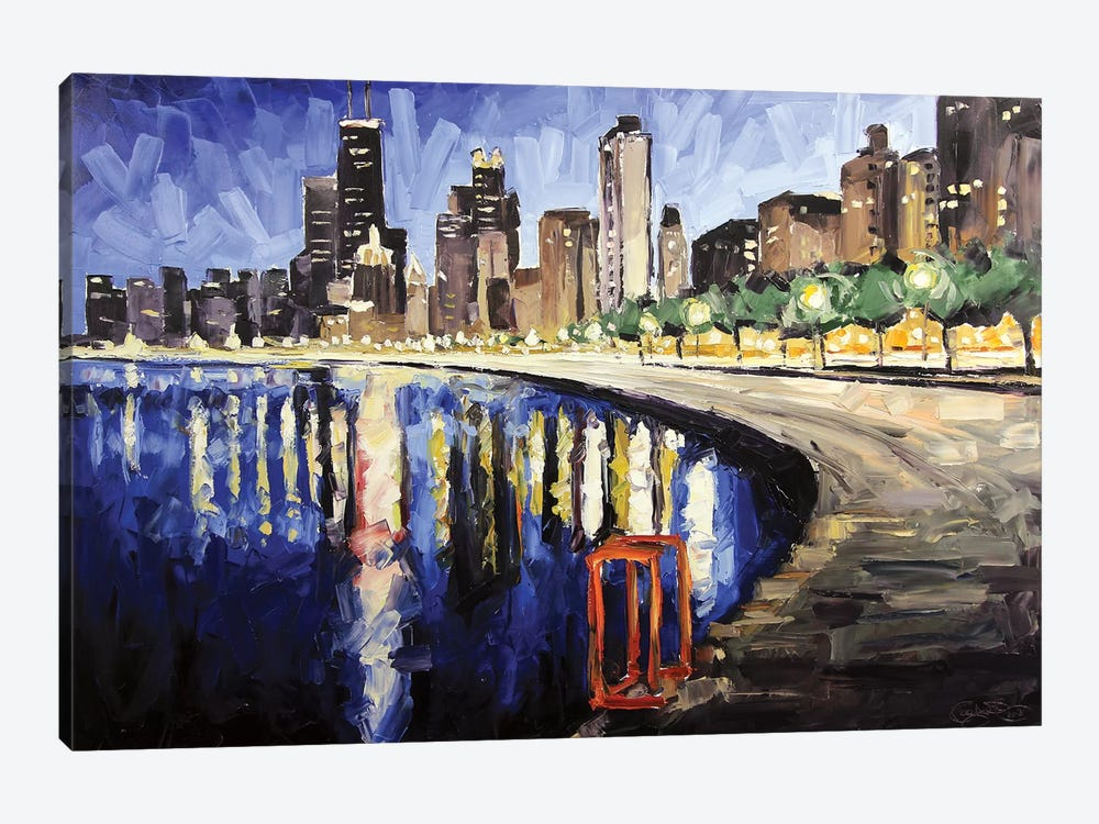 Lake Shore From Lincoln Park by Roger Disney 1-piece Art Print