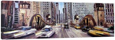 Lasalle Ave Bridge Canvas Art Print