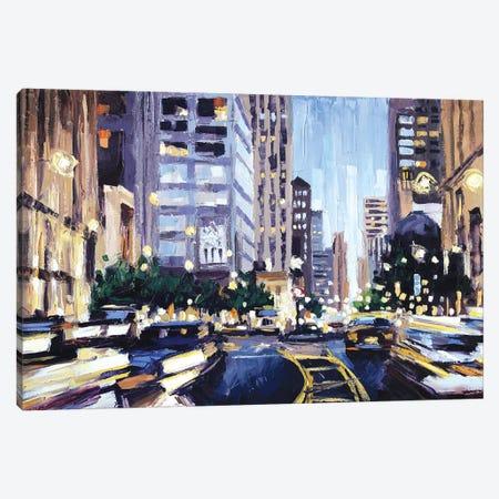 Michigan Ave Canvas Print #RDI47} by Roger Disney Canvas Artwork