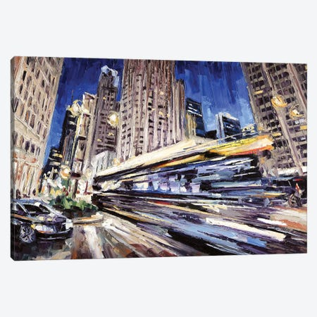 Michigan Ave Above Water St Canvas Print #RDI48} by Roger Disney Art Print