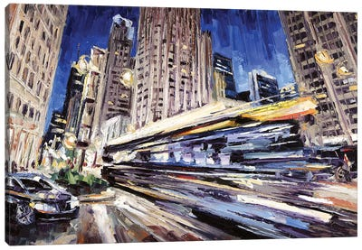 Michigan Ave Above Water St Canvas Art Print