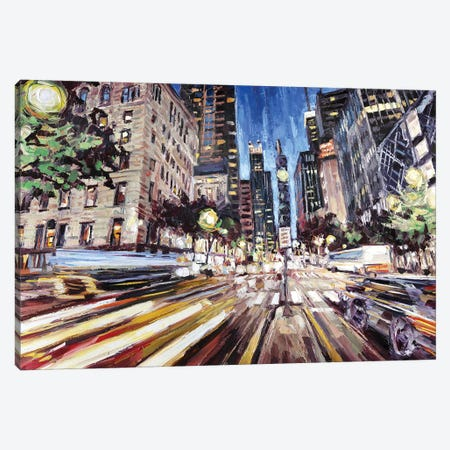 Michigan Ave North Of Ontario Canvas Print #RDI50} by Roger Disney Canvas Wall Art