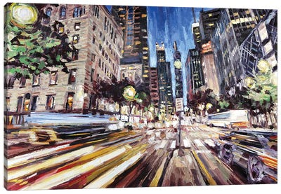 Michigan Ave North Of Ontario Canvas Art Print