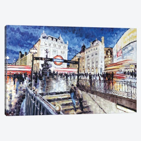 Piccadilly Circus I Canvas Print #RDI55} by Roger Disney Canvas Art Print