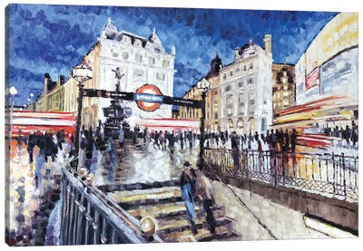 Piccadilly Circus I Canvas Art Print