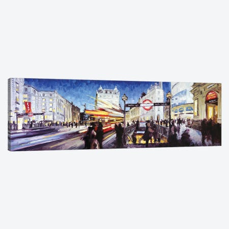 Piccadilly Circus II Canvas Print #RDI56} by Roger Disney Canvas Art Print