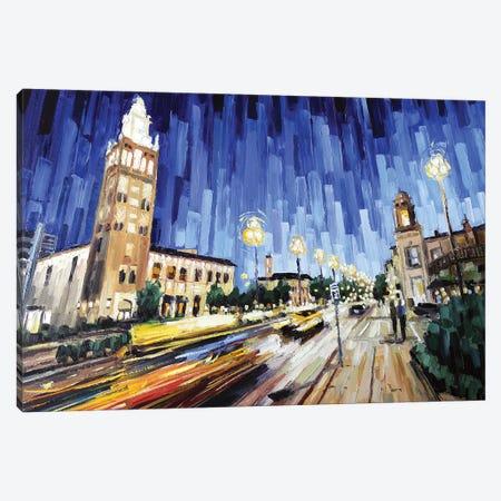Plaza Canvas Print #RDI58} by Roger Disney Canvas Art