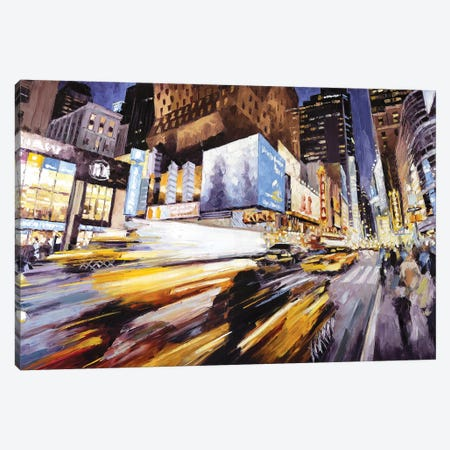 42nd At 8th Ave Canvas Print #RDI5} by Roger Disney Canvas Print