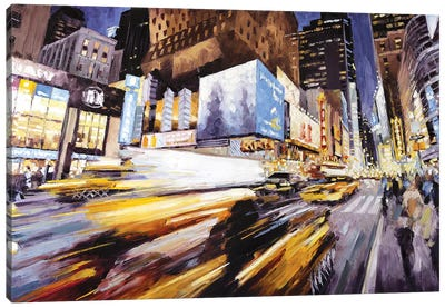 42nd At 8th Ave Canvas Art Print