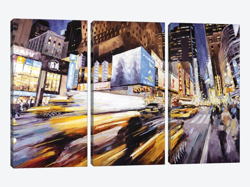 42nd At 8th Ave by Roger Disney 3-piece Canvas Art