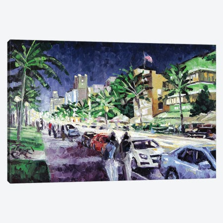 South Beach Canvas Print #RDI63} by Roger Disney Canvas Art Print