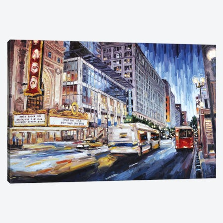 State Street New Canvas Print #RDI66} by Roger Disney Canvas Artwork