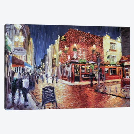 Temple Bar Small Canvas Print #RDI68} by Roger Disney Canvas Art Print