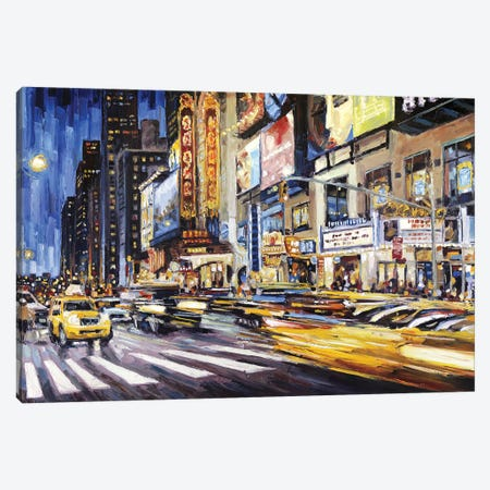 42nd Between 7th & 8th Canvas Print #RDI6} by Roger Disney Canvas Print