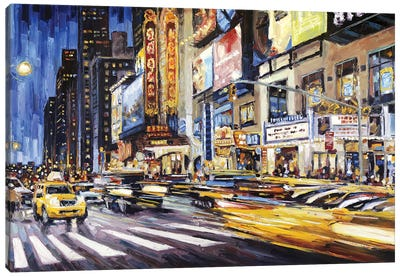 42nd Between 7th & 8th Canvas Art Print