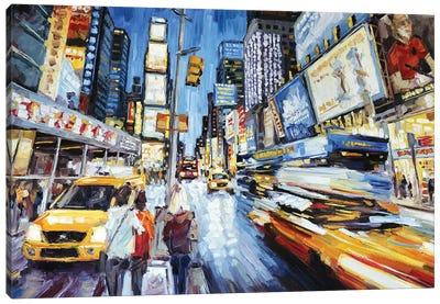 Times Square At Dusk Canvas Art Print