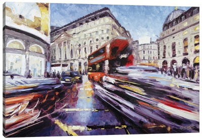 Regent Street at Piccadilly Canvas Art Print
