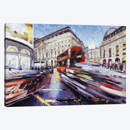 Regent Street at Piccadilly Canvas Print #RDI72} by Roger Disney Canvas Wall Art