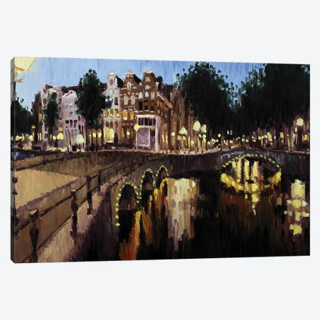 Leidsegracht, Amsterdam Canvas Print #RDI73} by Roger Disney Canvas Artwork