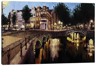 Leidsegracht, Amsterdam Canvas Art Print