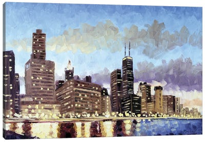 Ohio Street Beach, Chicago Canvas Art Print