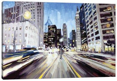 Michigan & Illinois, Chicago Canvas Art Print