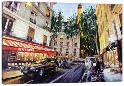 Rue De Monttessuy, Paris Canvas Art Print