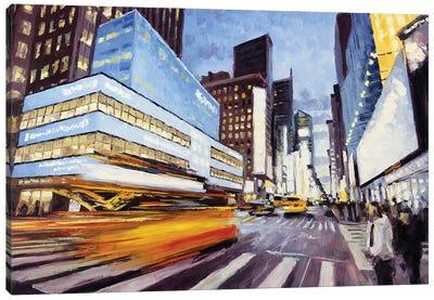7th Avenue At 50th, Nyc Canvas Art Print