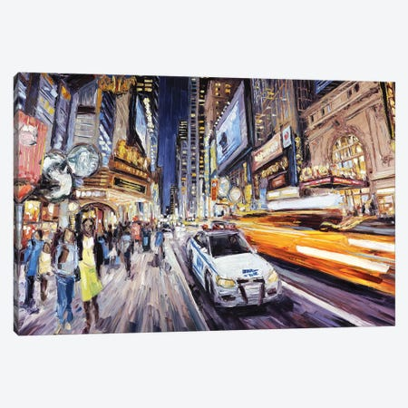 42nd East Of 8th Canvas Print #RDI8} by Roger Disney Canvas Artwork