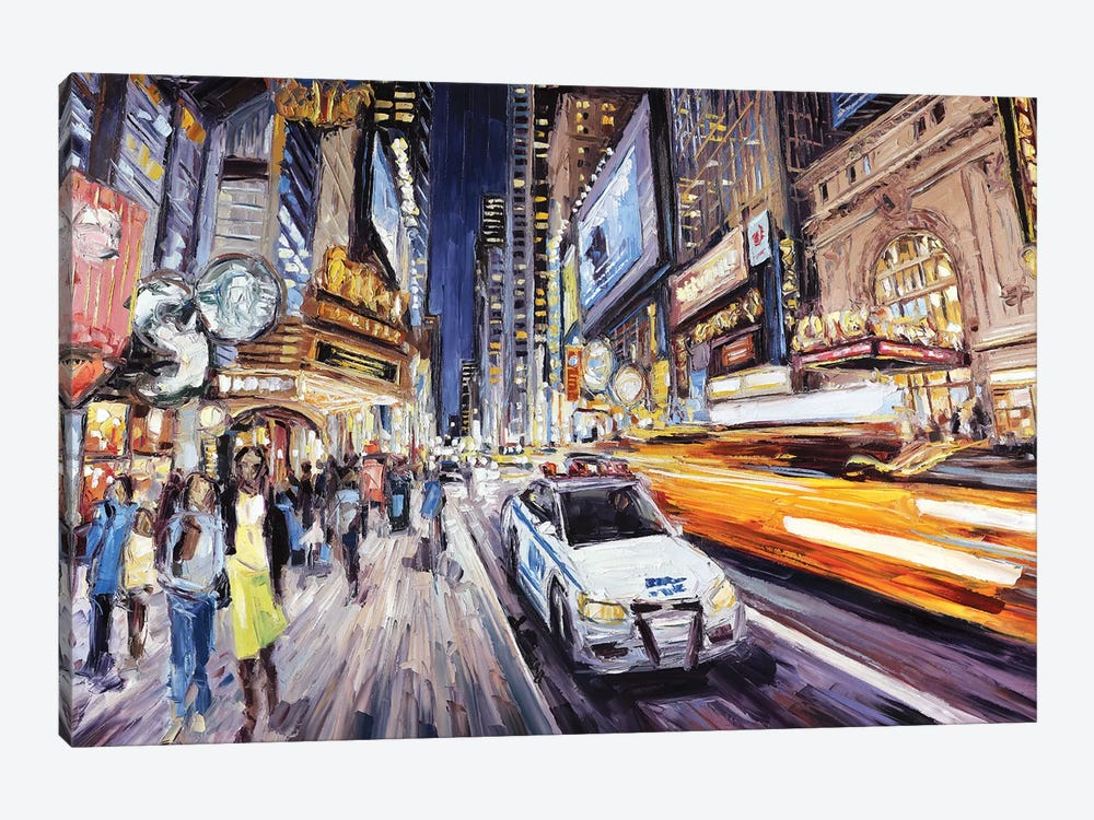 42nd East Of 8th by Roger Disney 1-piece Canvas Art Print