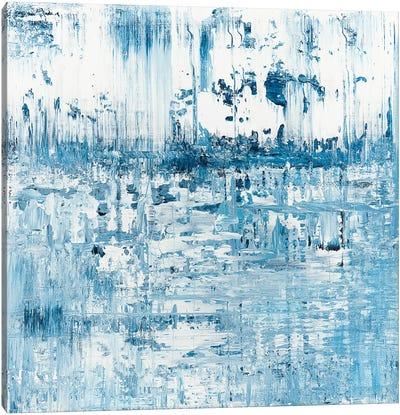 Blue Pond Rainfall Canvas Art Print