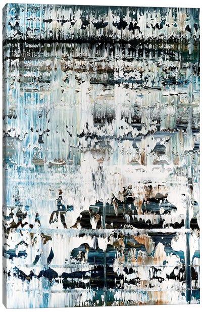 Broken Blue Marbled Canvas Art Print