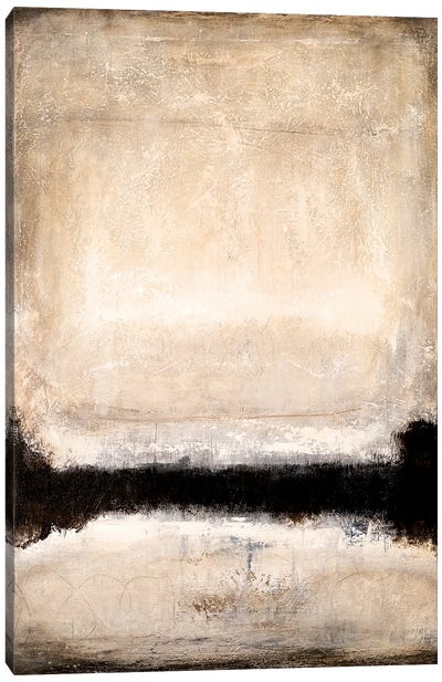 Brown/Beige Horizon Canvas Art Print